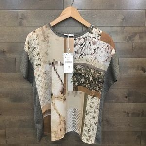 ZARA Top Blouse Sheer Style Size S NWT